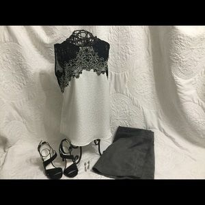 White House Black Market Lace Filagree top